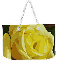 Friendship Rose Abstract Weekender Tote Bag