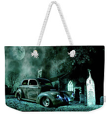Weekender Tote Bag featuring the photograph Sinister by Steven Agius