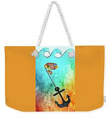 Weekender Tote Bag featuring the mixed media Sink Or Swim By Kaye Menner by Kaye Menner