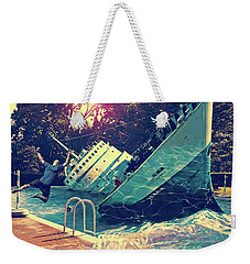 Sinking Into The Pool Weekender Tote Bag