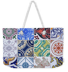 Weekender Tote Bag featuring the photograph Sintra Tiles by Carlos Caetano