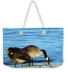 Sipping And Preening On The Beach Weekender Tote Bag