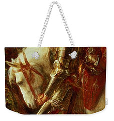 Sir Galahad Weekender Tote Bag by George Frederic Watts