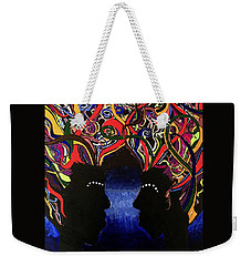 Sis The Twins - Abstract Silhouette Painting - Sisterhood - Abstract Painting  Weekender Tote Bag