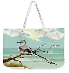 Sissor Tailed Flycatcher Weekender Tote Bag by Anne Beverley-Stamps