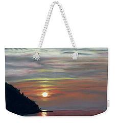 Sister Bay Sunset Weekender Tote Bag