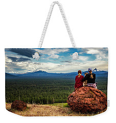 Weekender Tote Bag featuring the photograph Sisters by Cat Connor