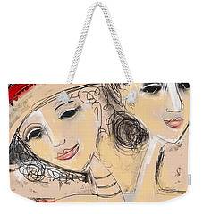 Sisters Weekender Tote Bag by Elaine Lanoue