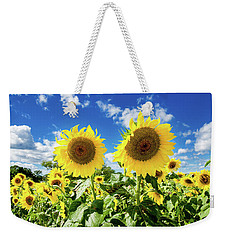 Weekender Tote Bag featuring the photograph Sisters by Greg Fortier
