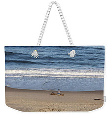 Weekender Tote Bag featuring the photograph Sittin And Thinkin  by Marie Neder