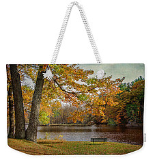 Sittin On The Banks Weekender Tote Bag by Susan McMenamin