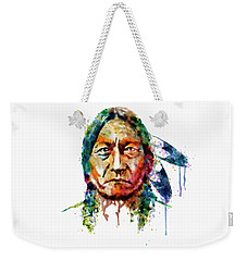 Sitting Bull Watercolor Painting Weekender Tote Bag