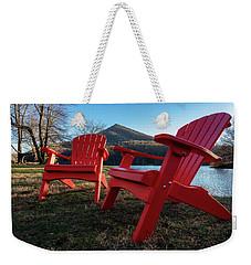 Sitting By The Lake Weekender Tote Bag