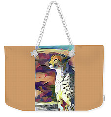 Sitting Cheetah  Weekender Tote Bag