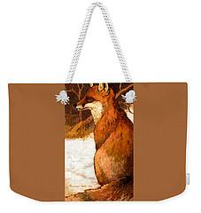 Sitting Fox Weekender Tote Bag
