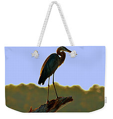 Weekender Tote Bag featuring the photograph Sitting High On The Log by Lisa Wooten