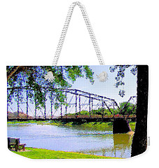 Weekender Tote Bag featuring the photograph Sitting In Fort Benton by Susan Kinney