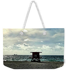 Sitting On The Beach Weekender Tote Bag