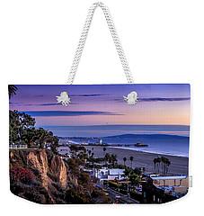 Sitting On The Fence - Santa Monica Pier Weekender Tote Bag