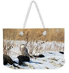 Sitting Snowy Weekender Tote Bag