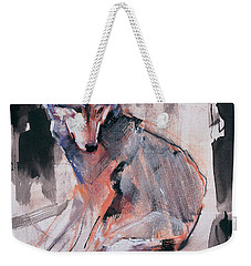 Sitting Wolf Weekender Tote Bag by Mark Adlington