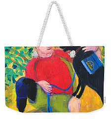 Weekender Tote Bag featuring the painting One Team Two Heroes-4 by Donald J Ryker III