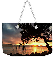 Siuslaw River Autumn Sunset Weekender Tote Bag