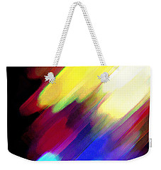 Weekender Tote Bag featuring the painting Sivilia 1 Abstract by Donna Corless