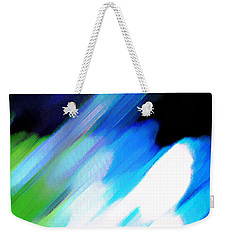 Weekender Tote Bag featuring the painting Sivilia 10 Abstract by Donna Corless