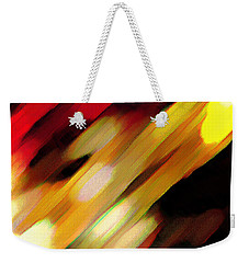 Weekender Tote Bag featuring the painting Sivilia 11 Abstract by Donna Corless