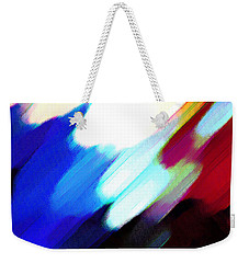 Weekender Tote Bag featuring the painting Sivilia 12 Abstract by Donna Corless