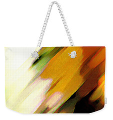 Weekender Tote Bag featuring the painting Sivilia 2 Abstract by Donna Corless