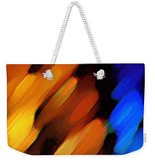 Weekender Tote Bag featuring the painting Sivilia 3 Abstract by Donna Corless