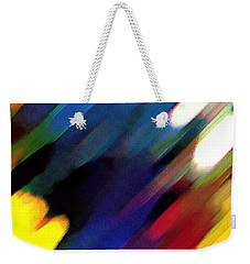 Weekender Tote Bag featuring the painting Sivilia 4 Abstract by Donna Corless