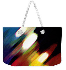 Weekender Tote Bag featuring the painting Sivilia 5 Abstract by Donna Corless