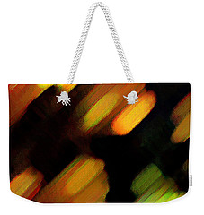 Weekender Tote Bag featuring the painting Sivilia 6 Abstract by Donna Corless