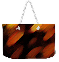 Weekender Tote Bag featuring the painting Sivilia 7 Abstract by Donna Corless