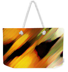 Weekender Tote Bag featuring the painting Sivilia 8 Abstract by Donna Corless