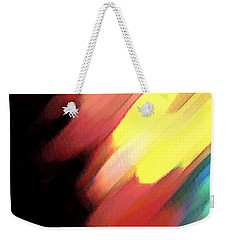 Weekender Tote Bag featuring the painting Sivilia 9 Abstract by Donna Corless