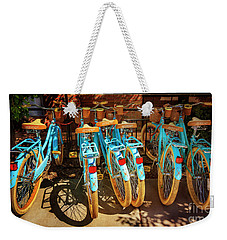 Weekender Tote Bag featuring the photograph Six Huffy Bicycles by Craig J Satterlee