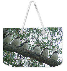 Weekender Tote Bag featuring the photograph Six In A Row by Evelyn Tambour