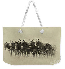 Six Mules, And One More Weekender Tote Bag by Nicki McManus