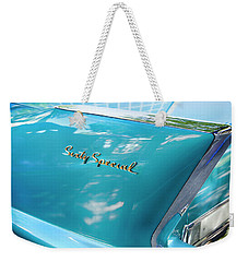 Weekender Tote Bag featuring the photograph Sixty Special Cadillac by Theresa Tahara