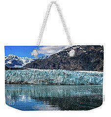 Weekender Tote Bag featuring the photograph Size Perspective No Margerie Glacier by John Hight