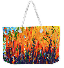 Weekender Tote Bag featuring the painting Sizzlescape by Holly Carmichael