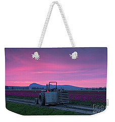 Weekender Tote Bag featuring the photograph Skagit Valley Dusk Calm by Mike Reid