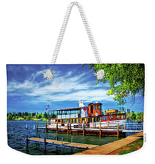 Skaneateles Lake Cruise Boat Weekender Tote Bag