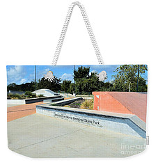 Weekender Tote Bag featuring the photograph Skate Park by Ray Shrewsberry