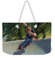 Skateboard Action Weekender Tote Bag