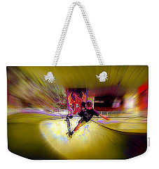 Weekender Tote Bag featuring the photograph Skateboarding by Lori Seaman
